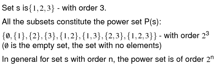 Powersets explained