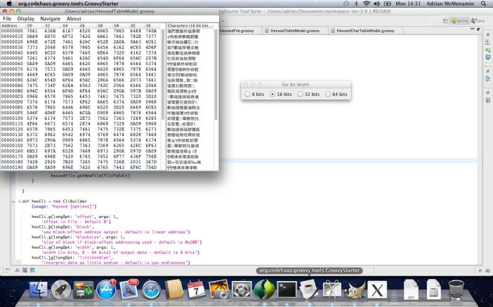 Screenshot of Hexxed hex editor