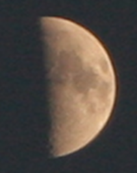 The Moon, approx 21.05BST, 28 May 2012