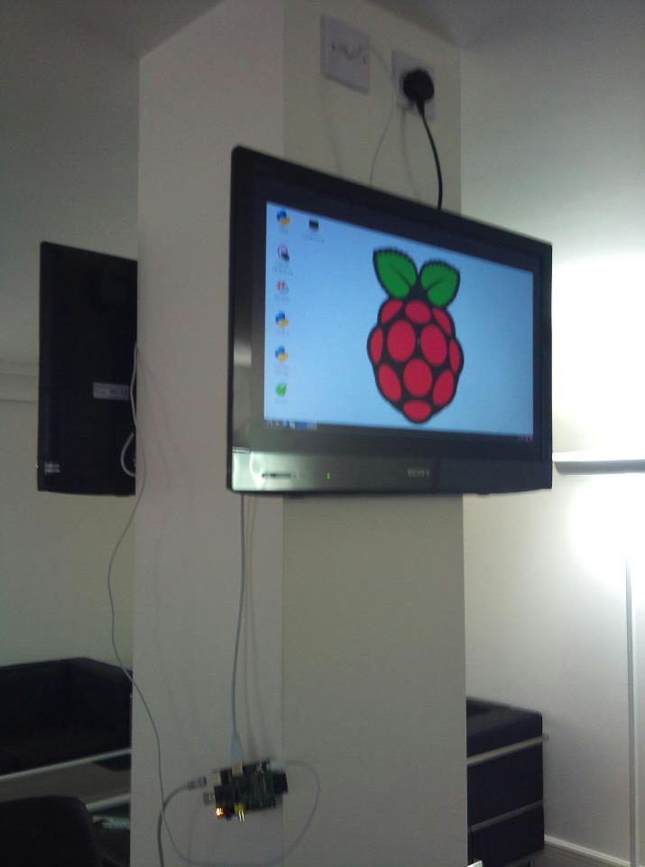 Raspberry Pi on HD TV