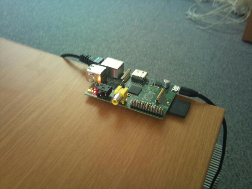 Raspberry Pi running