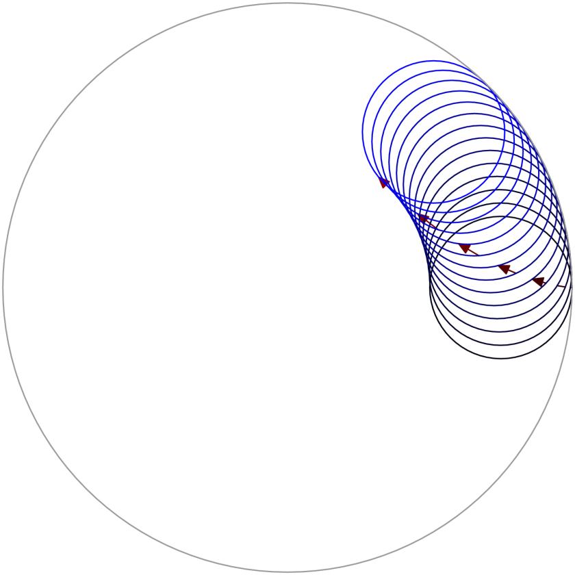 Evolution of a spirograph pattern